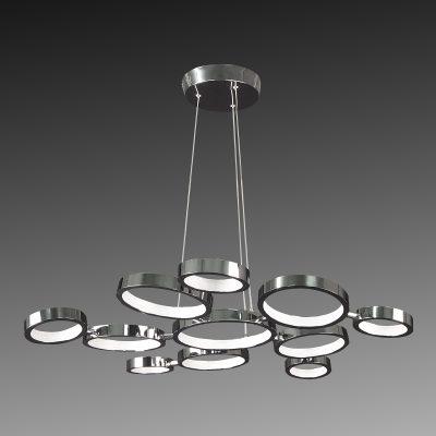 Металлическая люстра из колец в стиле модерн