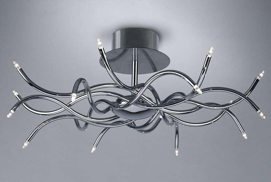 Плавные формы люстры в стиле модерн