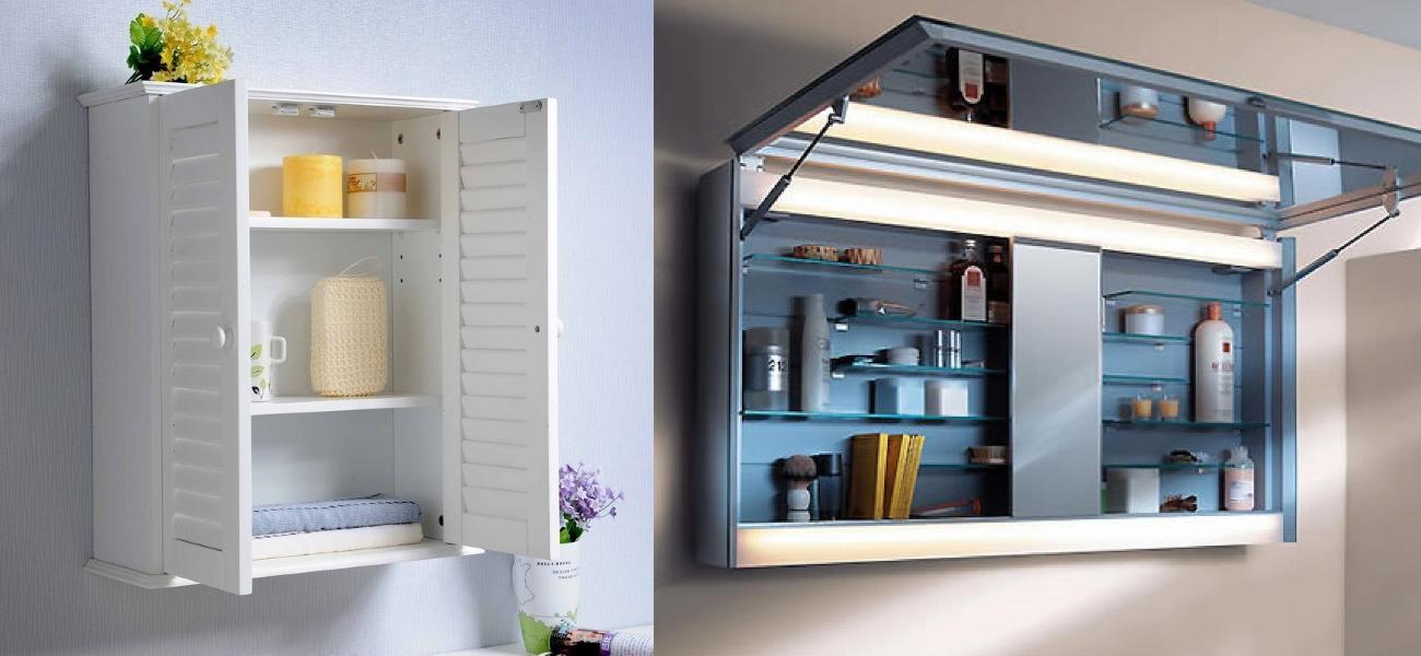 Шкафчики для мелких вещей в ванной
