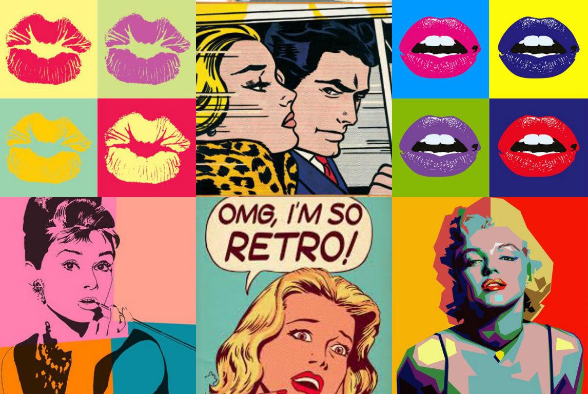 Образы массовой культуры в стиле поп-арт