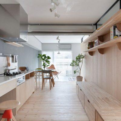 Светлая кухня в японском стиле