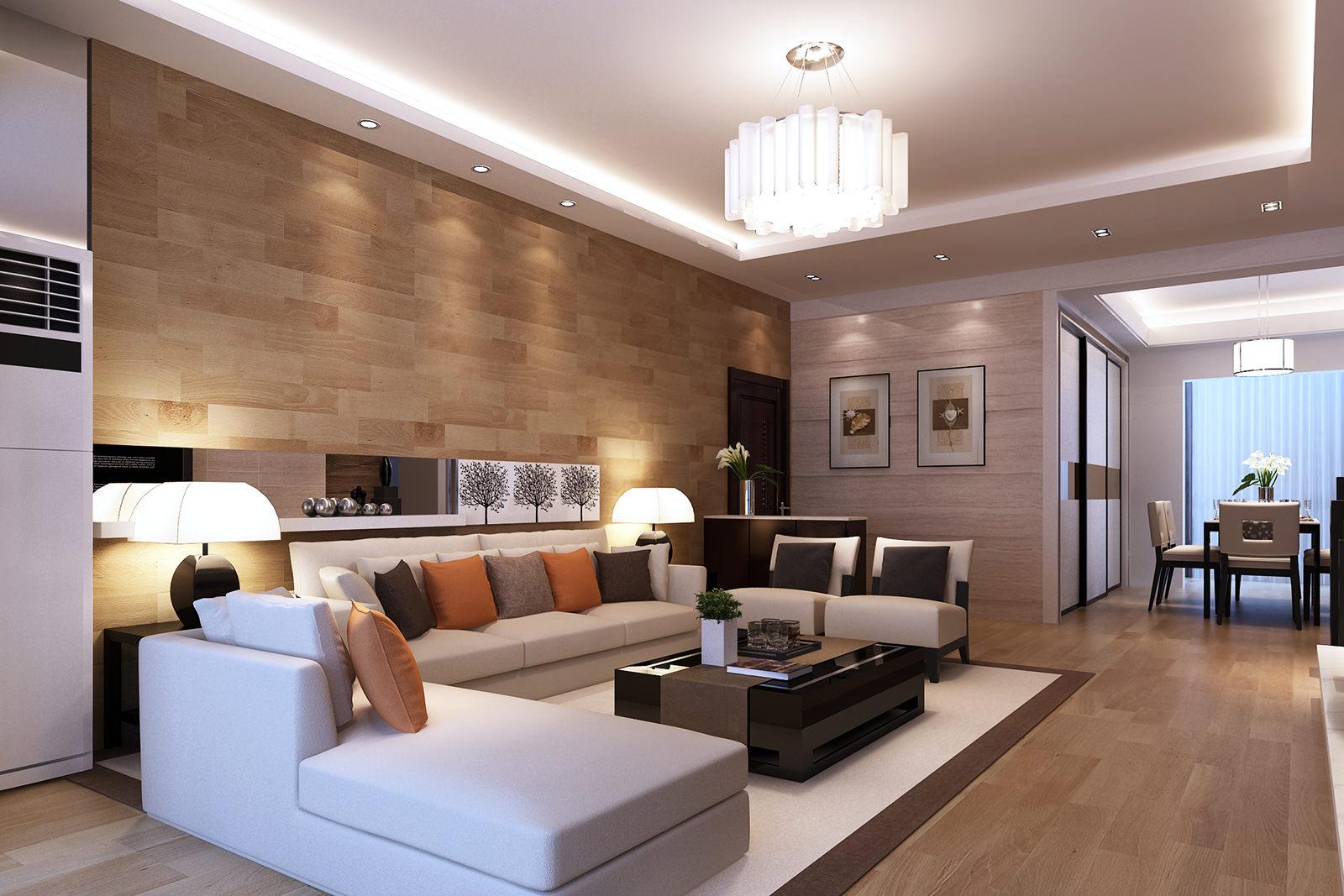 Освещение в гостиной в стиле модерн