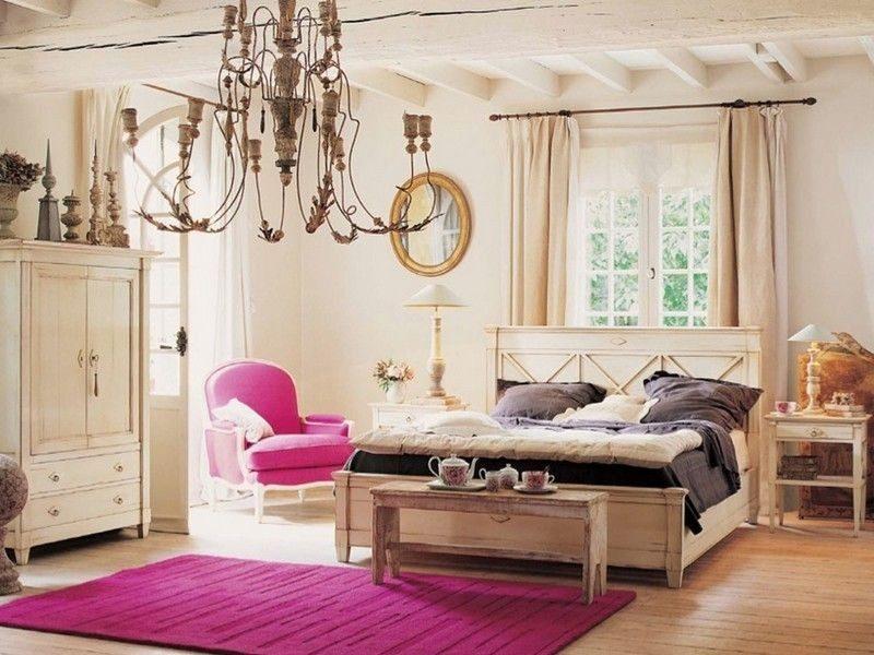 Освещение кантри спальни