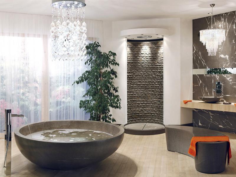 Плавность линий и форм в ванной