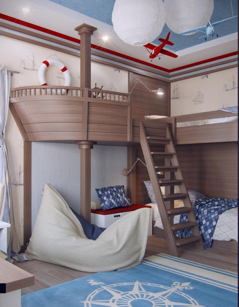 Палуба на втором этаже кровати