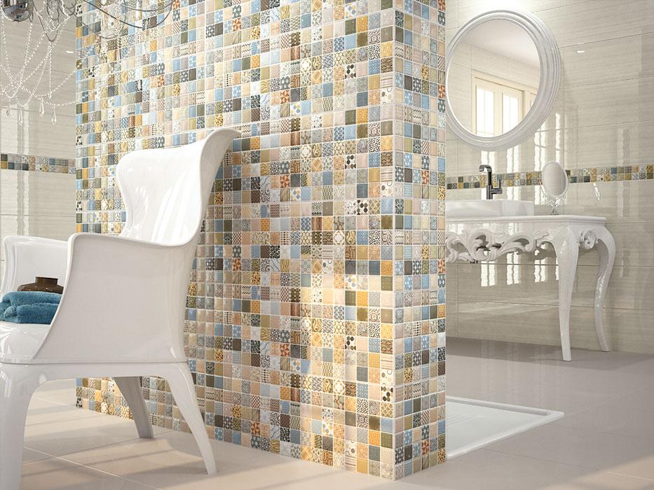 Керамическая плитка в стиле пэчворк для ванной: стильный узор на все вкусы