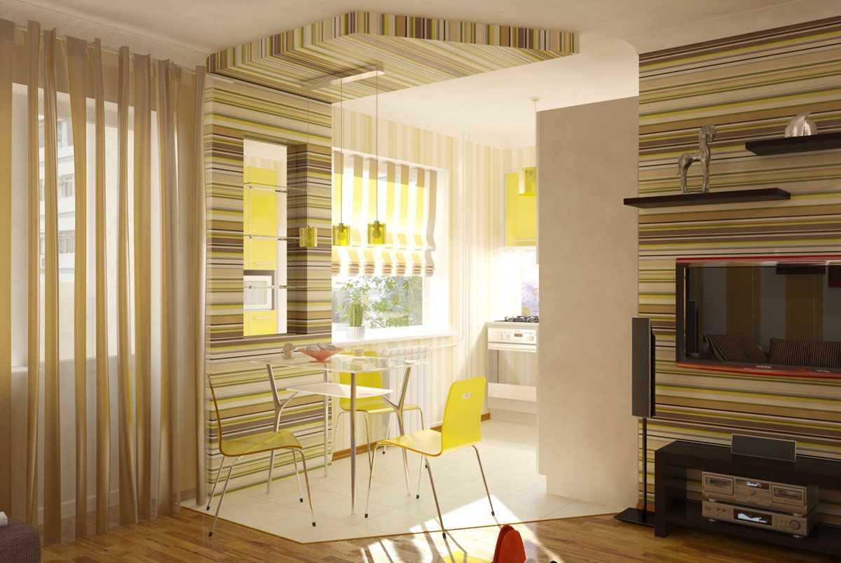 Кухня, совмещенная с гостиной – это отличный вариант дизайна для современных квартир