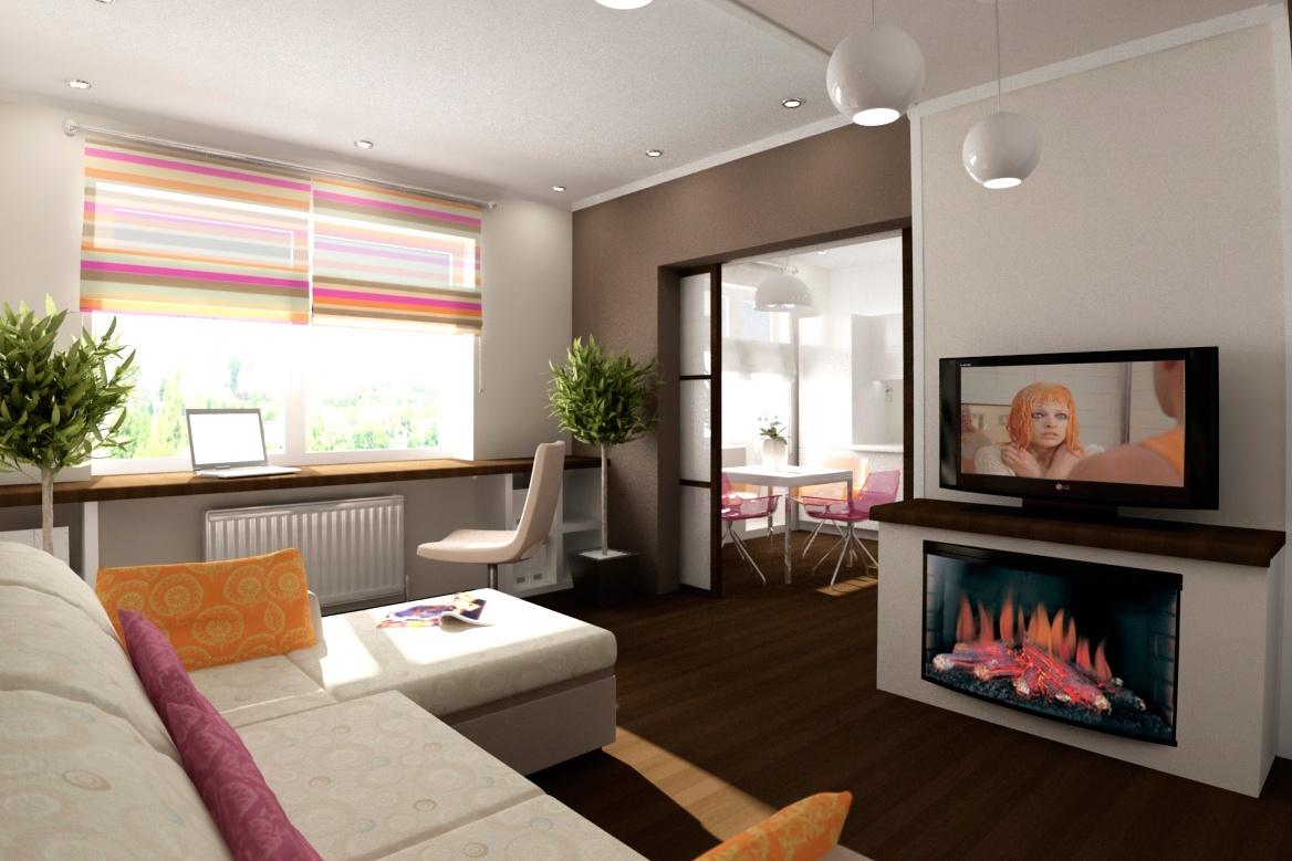 Большие раздвижные двери позволят визуально увеличить простанство, не объединяя при этом помещения
