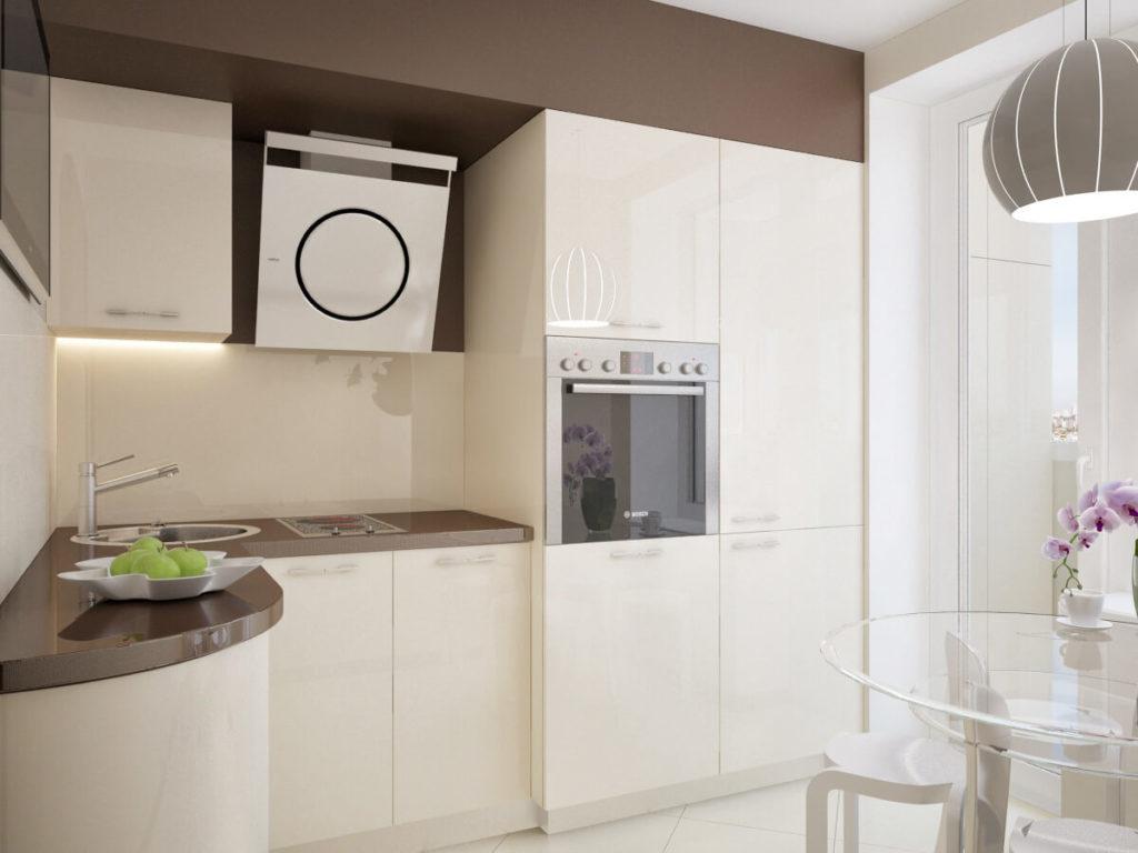 Для маленькой кухни идельным вариантом является встроенная техника