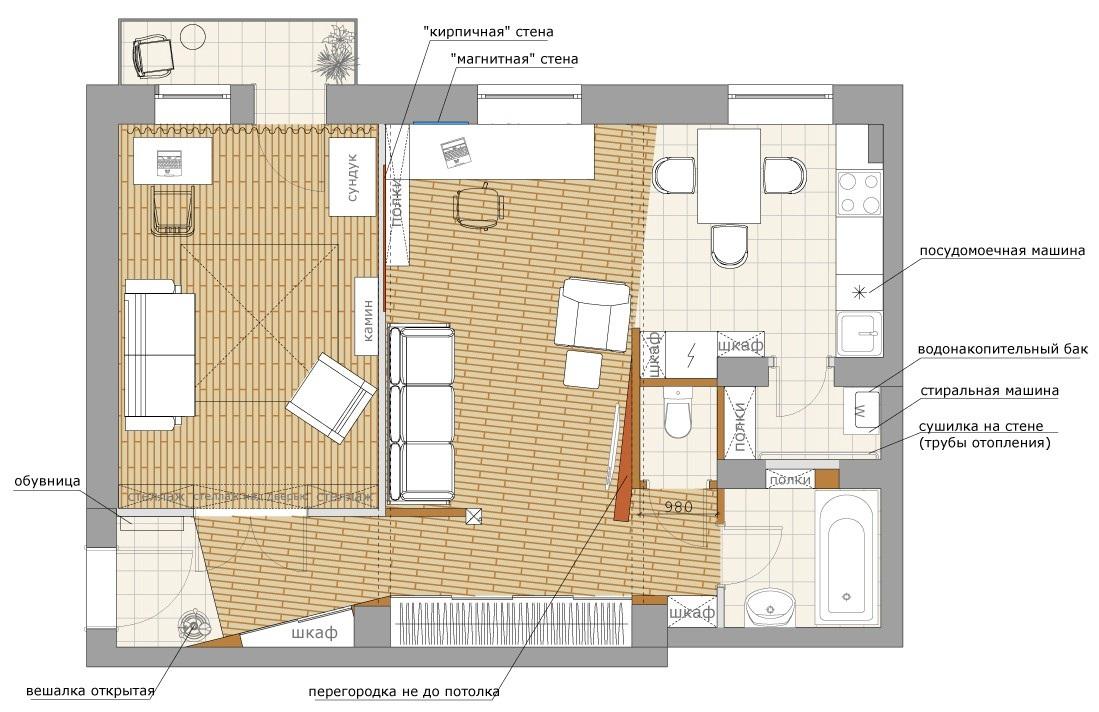 План перепланировки лучше всего заказывать у архитектора с лицензией