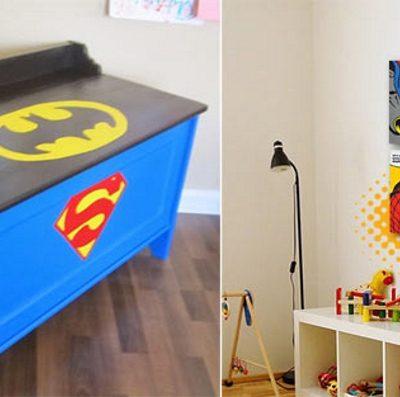 Супергеройская тематика в детской в стиле поп-арт
