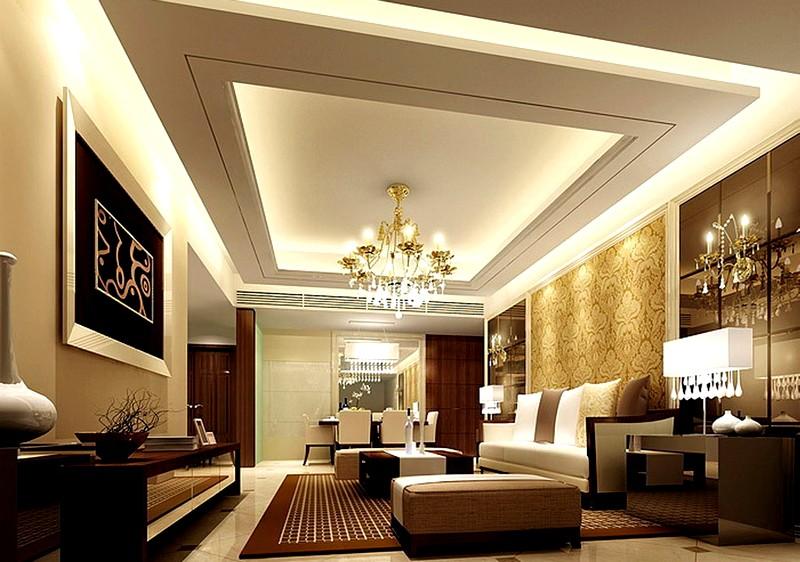 Потолки в классической гостиной