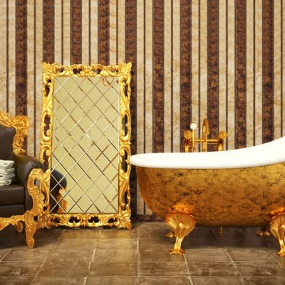 Позолоченная мебель в викторианском стиле
