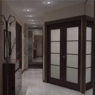 Темный коридор в японском стиле