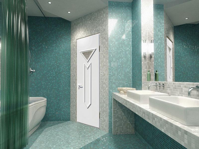 Принцип видимости в ванной по отношению к двери
