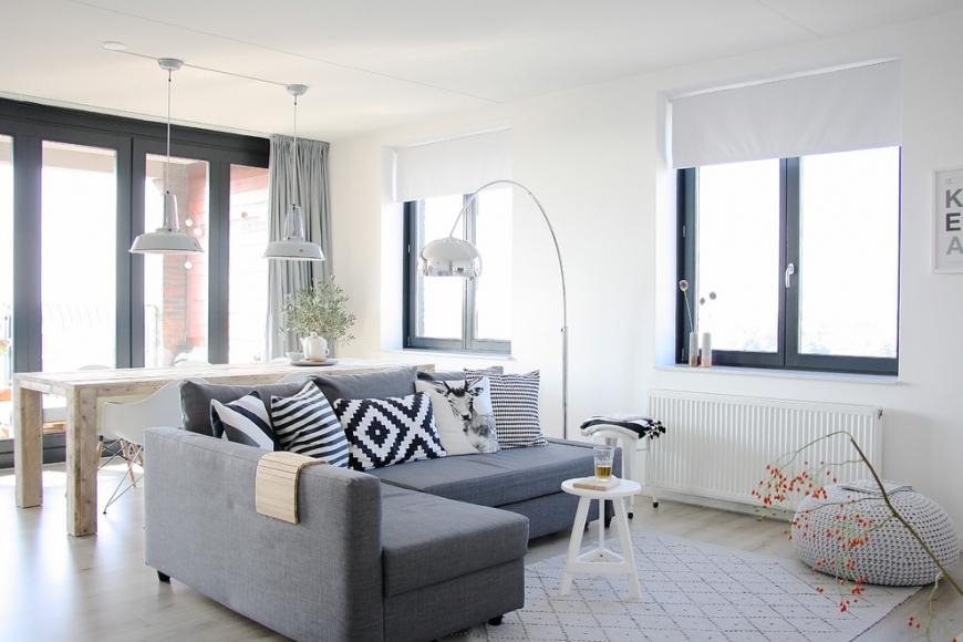 Простые аксессуары и мебель в скандинавском стиле