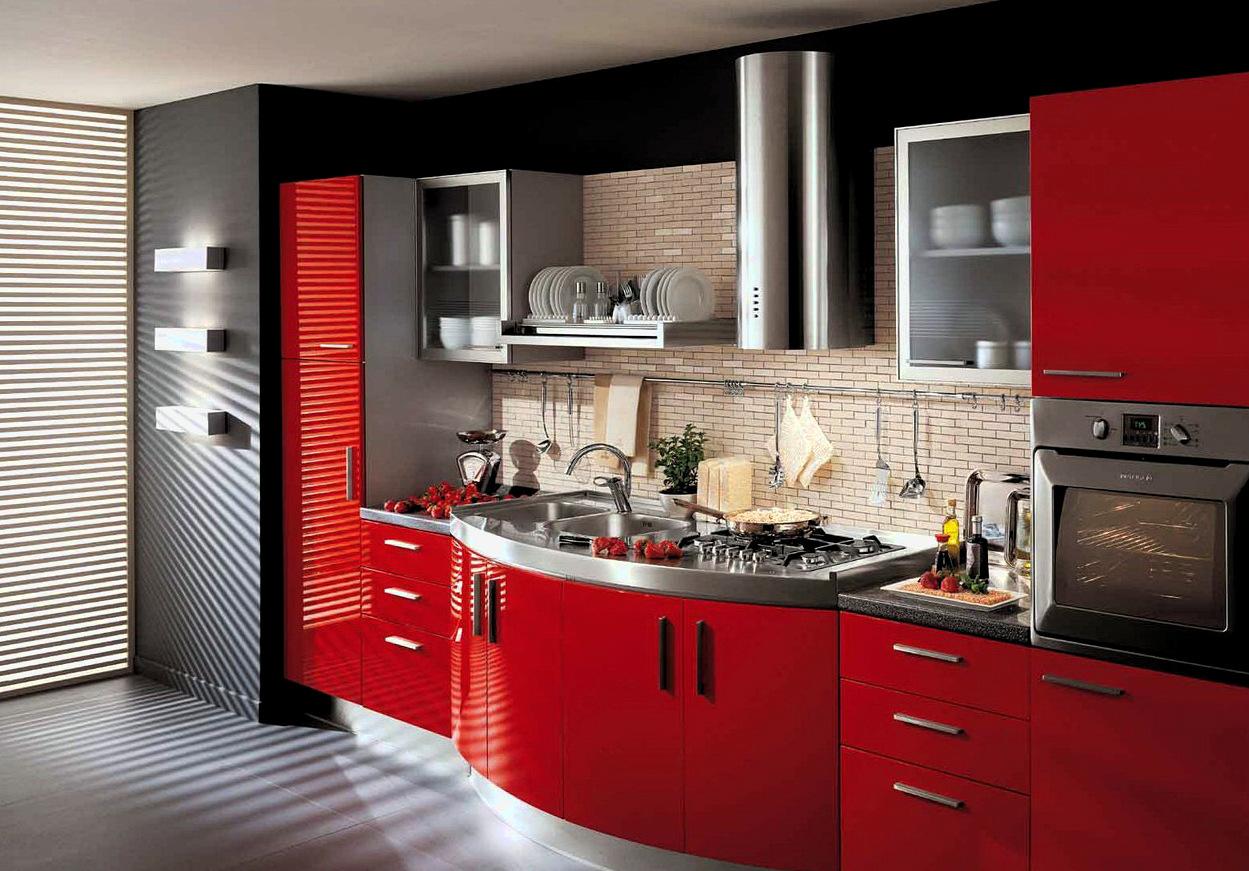 Идеальная красная кухня