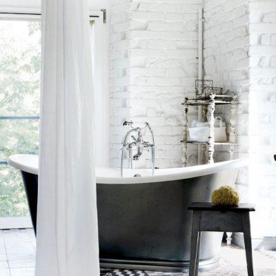 Ретро-ванная в стиле лофт