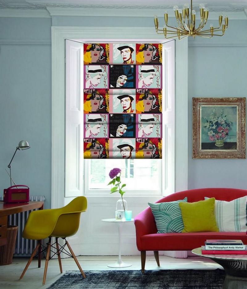 Рулонная штора-комикс в стиле поп-арт