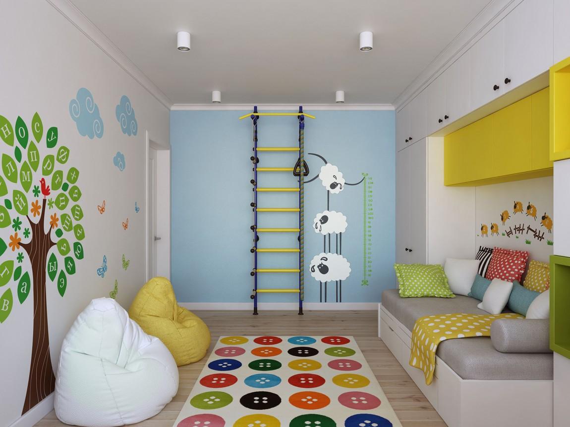 Детская - это та комната, в которой всегда будут уместны яркие цвета