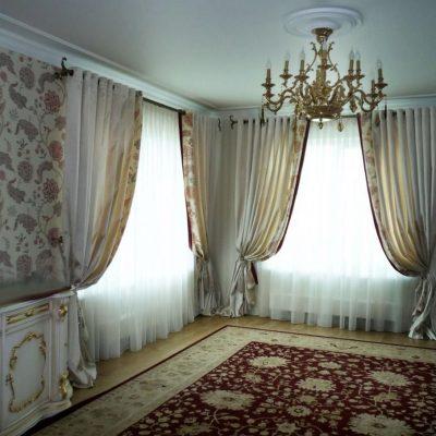 Зал -спальня с люверсами