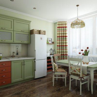Шторы для кухни в стиле кантри в квартире
