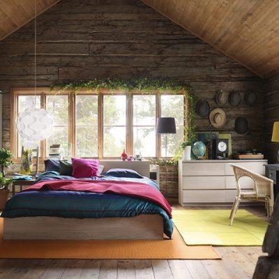 Современный деревенский стиль спальни