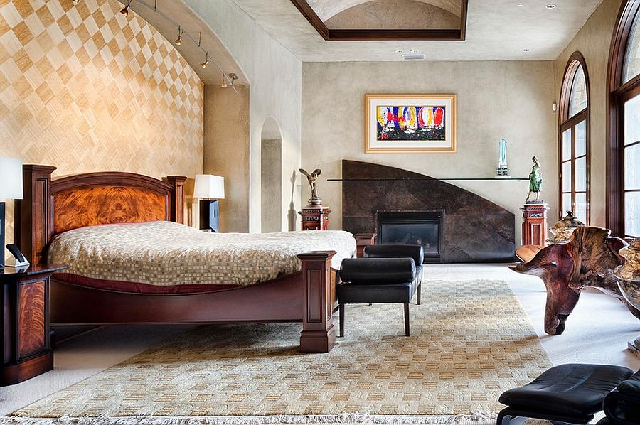 Акцент на одной из стен комнаты - излюбленный прием дизайнеровАкцент на одной из стен комнаты - излюбленный прием дизайнеров
