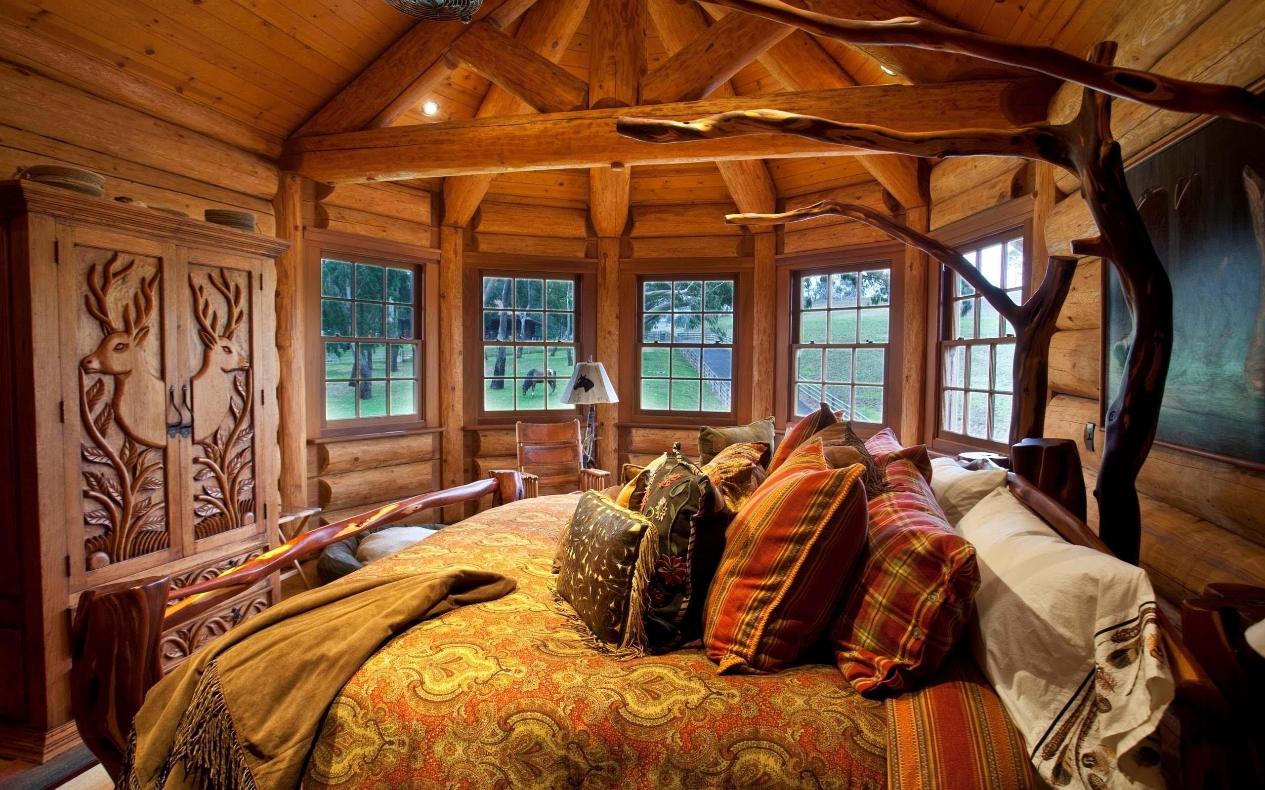 Оформление спальни в деревенском стиле