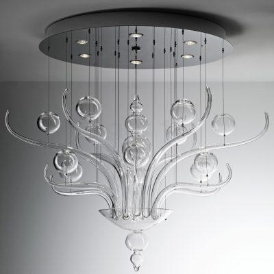 Стеклянная люстра в стиле модерн
