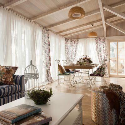 Потолки с балками в провансе