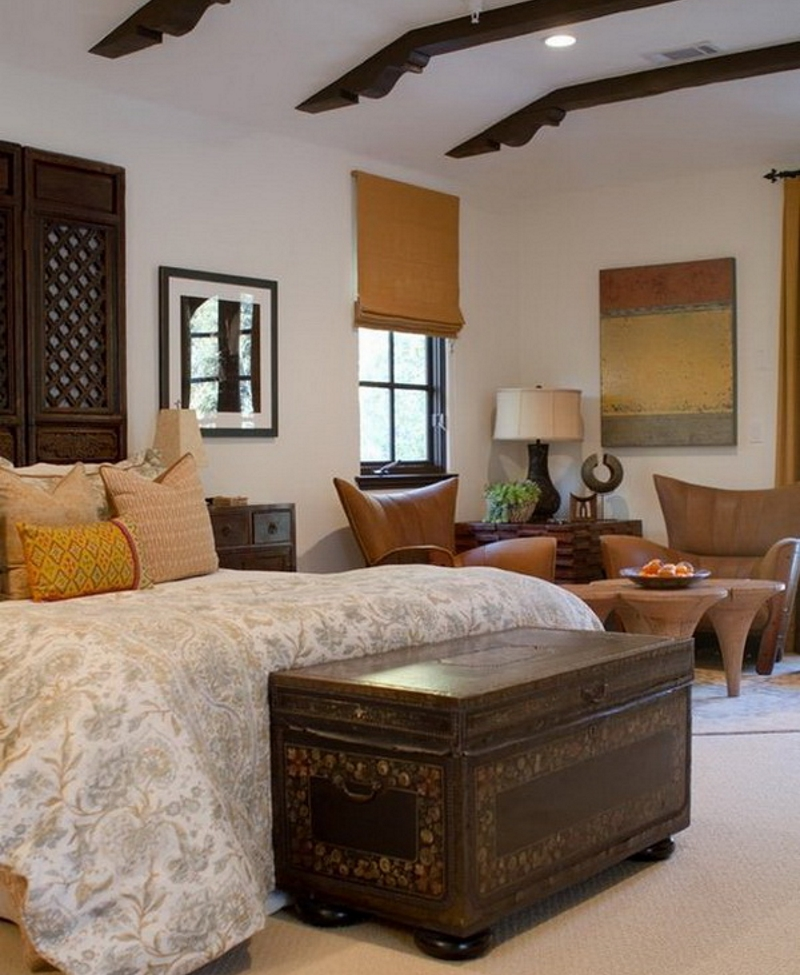 Сундук спальне в деревенском стиле