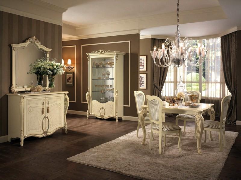 светлая мебель в классической гостиной