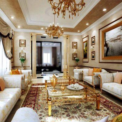 светлая мебель в интерьере классической гостиной