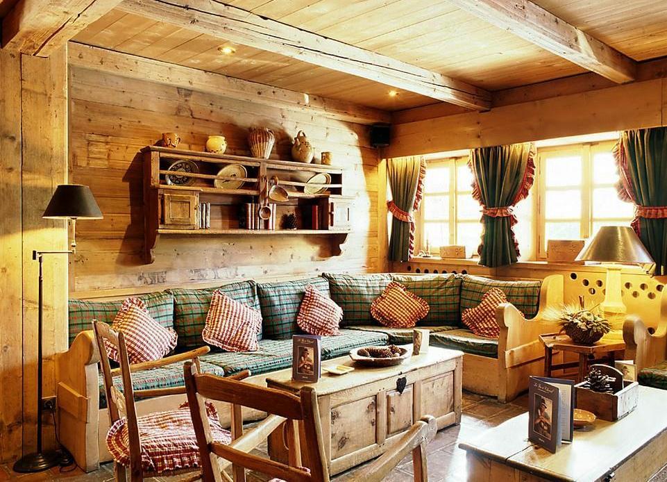 Текстиль в интерьере в стиле кантри