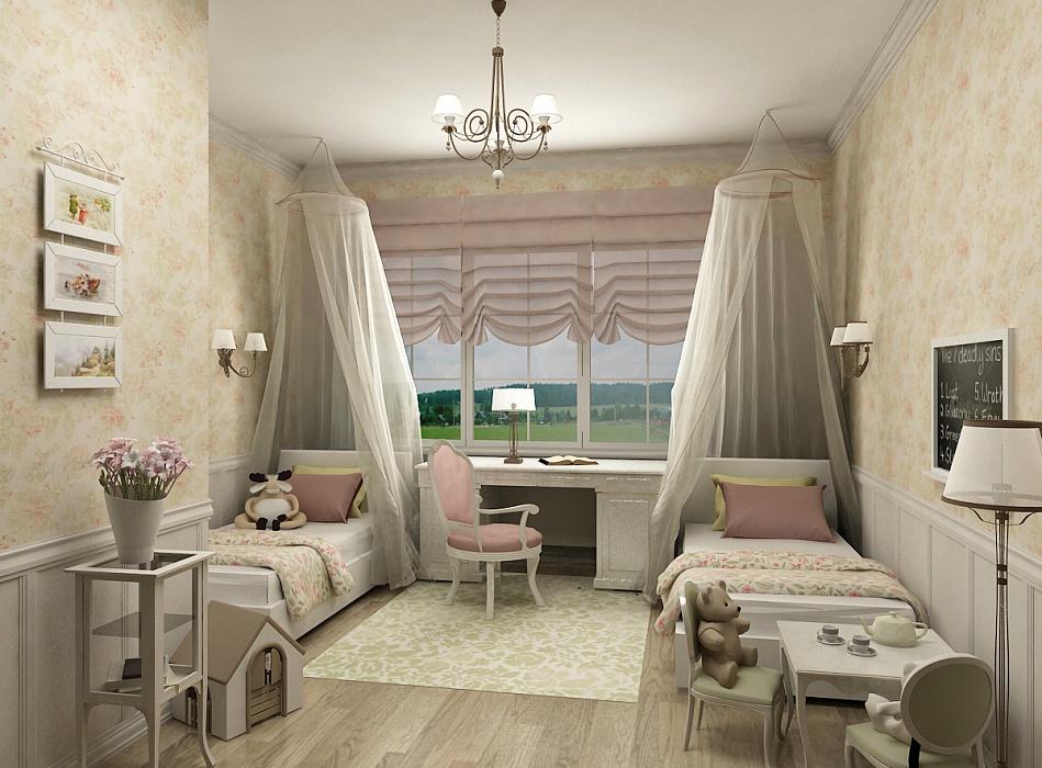 Украшение балдахинами кроватей в стиле прованс