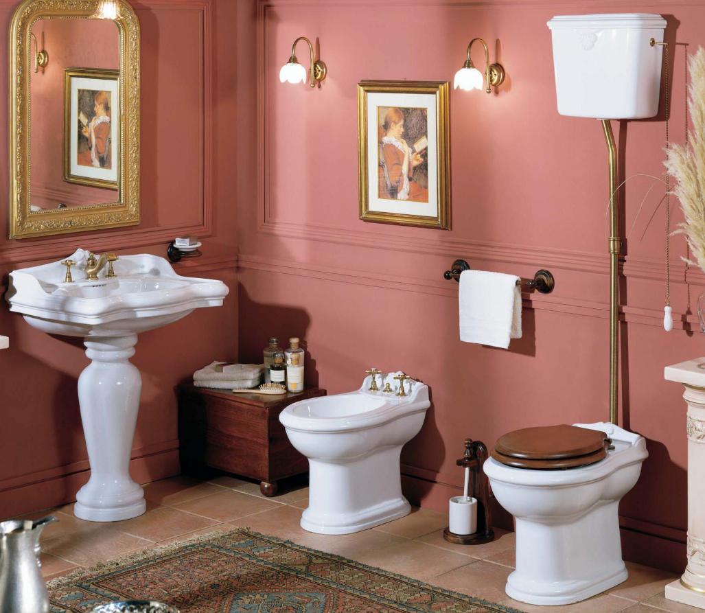 Сантехника в ванной в викторианском стиле