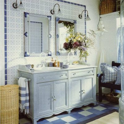 Ванная в стиле ретро прованс