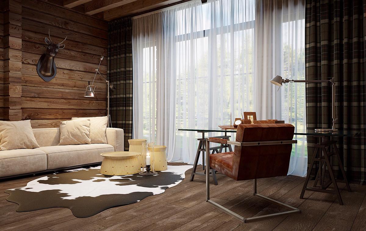 В стиле шале может быть оформлен не только загородный дом, но и городская квартира