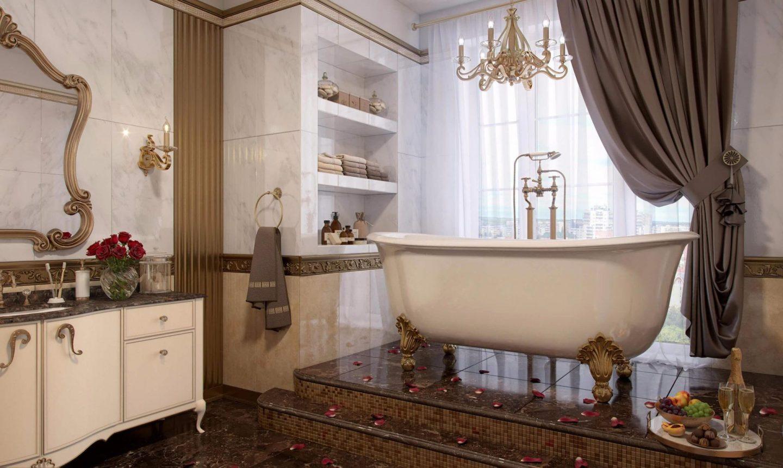 Ванная в викторианском стиле: от классики и до современности