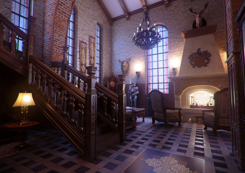 Красивая сказка на современный лад: комната в готическом стиле