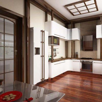 Прихожая и кухня на фото
