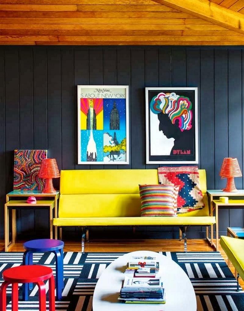 Яркие цвета в интерьере в стиле поп-арт