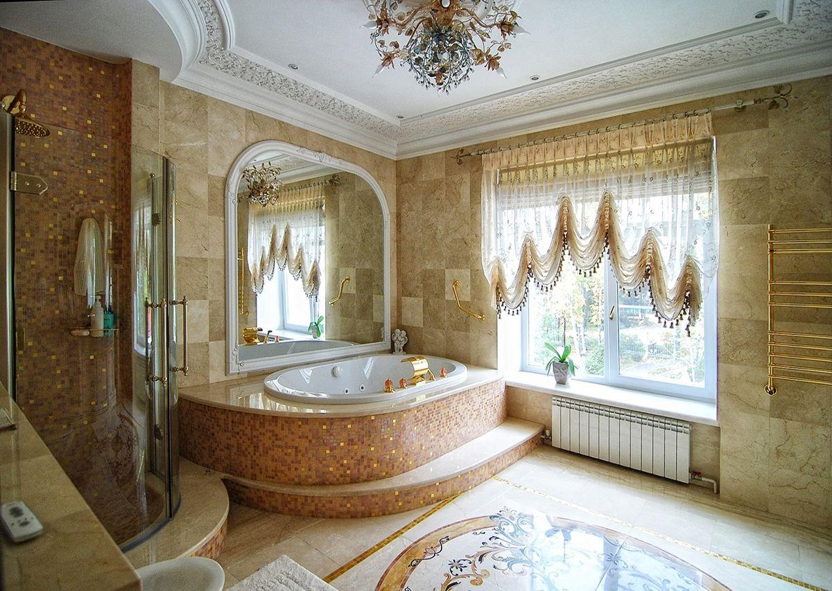 Угловое формление ванной