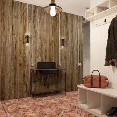 Имитация дерева в стенах