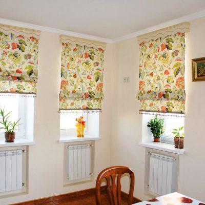 Цветочные шторы на фото