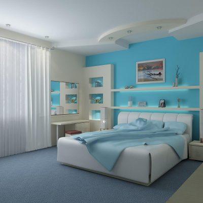 Оформление спальни в морском стиле