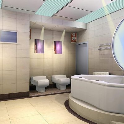 Круглое окно в ванной