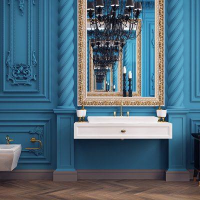 Синий интерьер барокко