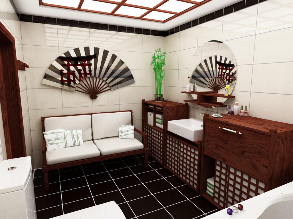 Веер в ванной